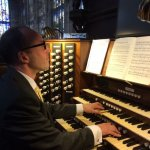 Giving the Easter Monday recital at King's College, Cambridge, April 21, 2014